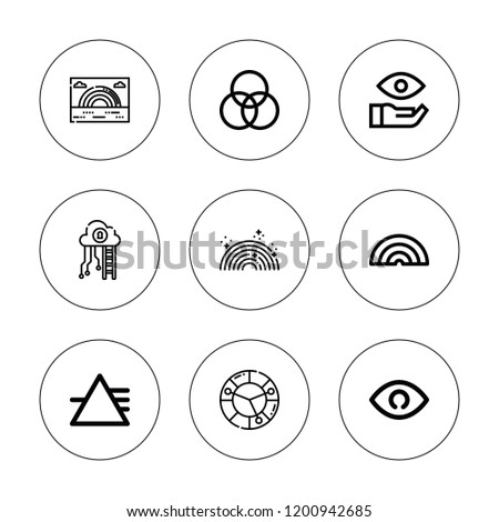 Spectrum Icon Set Collection 9 Outline Stock Vector Royalty Free