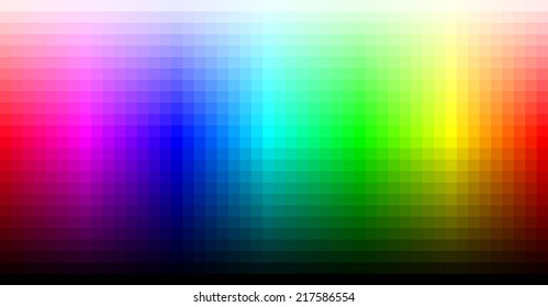 Spectrum representing RGB color space