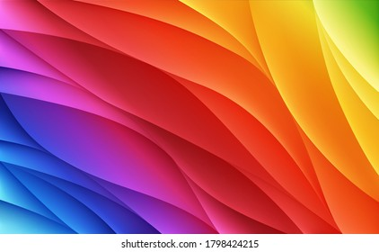 Spectrum waves. Abstract colorful vector background
