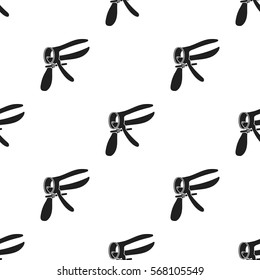 Speculum icon in black style isolated on white background. Pregnancy pattern stock vector illustration.