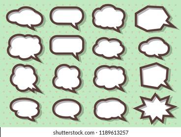 Speech Babbles set, vector illustration EPS10.