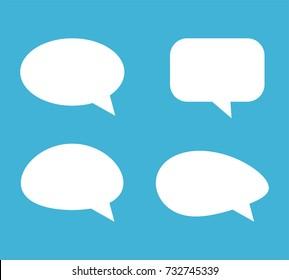 Speech Bubble Background. Blank empty white speech bubbles. Vector illustration.