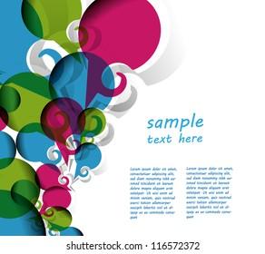 Speech bubble background design