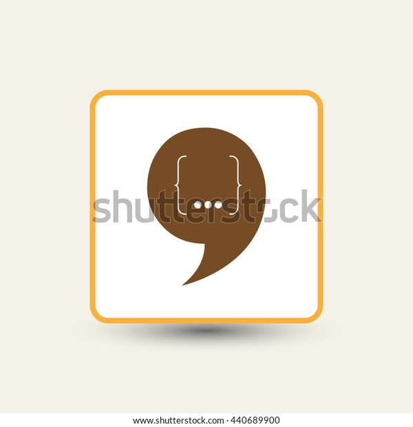 Speech Bubble Background. Vector Illustration