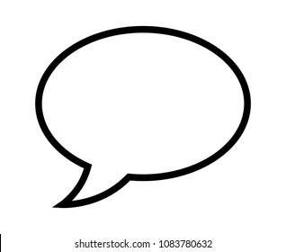 Speech bubble / speech balloon or chat bubble line art vector icon for apps and websites