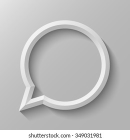 Speech bubble with bevel.