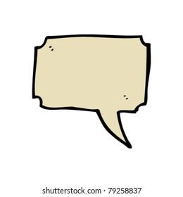 speech bubble cartoon