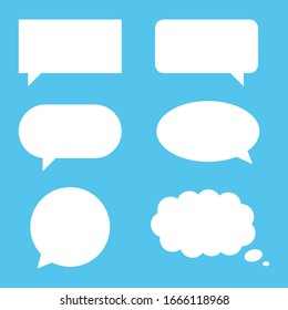 Speech Bubble, Chat Bubble and Dialogue Blank Template Icon Set Vector Design.
