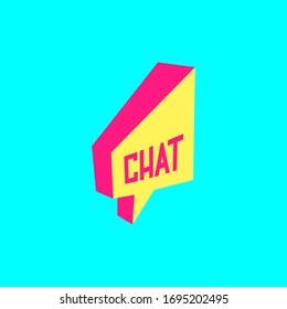 Speech bubble chat Vector logo social media symbol.