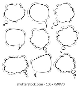 Speech bubble. Cloud. Vector Illustration. EPS 10