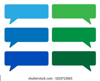 Speech Bubble, Colorful Speech Bubble, Green and Blue Callout