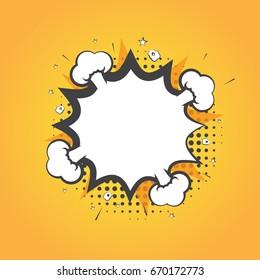Speech bubble in comic style. Vector illustration, eps 10.