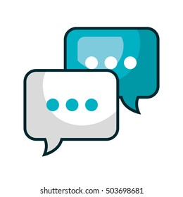 speech bubble communication isolated icon
