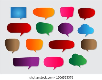 speech bubble cut paper design template. Vector