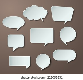 speech bubble cut paper design template. Vector illustration for your business presentation.