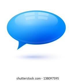 Speech bubble dialog vector element