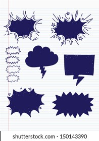 Speech bubble doodles hand-drawn. vector liiustration.