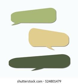 Speech bubble. Dream cloud. Talk balloon. Quote box. Text   information frame.  Set of vector illustration icons.  Thought bubbles. speech balloon.