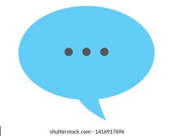 speech bubble with ellipsis icon cartoon isolated vector illustration graphic design