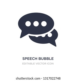 speech bubble with ellipsis icon on white background. Simple element illustration from Shapes concept. speech bubble with ellipsis icon symbol design.