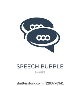 speech bubble with ellipsis icon vector on white background, speech bubble with ellipsis trendy filled icons from Shapes collection, speech bubble with ellipsis vector illustration