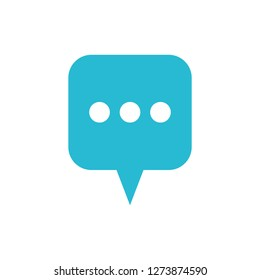 speech bubble with ellipsis isolated icon