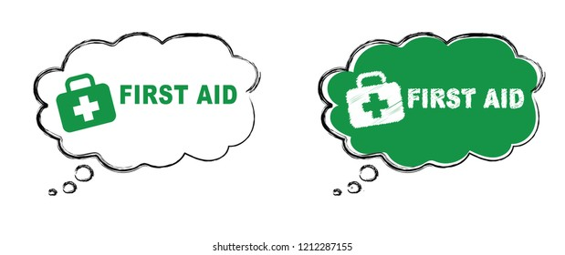Speech bubble Emergency defibrillator AID AED icon icons Medical logo cpr Vector eps symbol location automated external Medical signs sign heart symbol flat safe public signs life cross safety