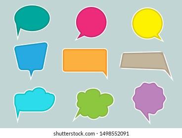 Speech bubble flat design vector