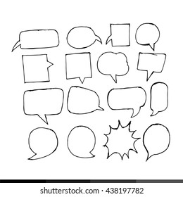 Speech bubble hand drawing illustration design