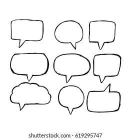 Speech Bubble hand drawn