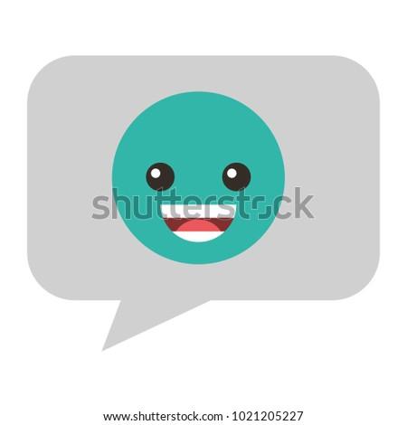 Speech Bubble Happy Emoji Stock Vector (Royalty Free) 1021205227