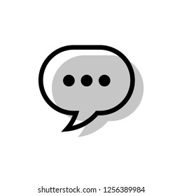 Speech bubble icon, chat dialog vector sign