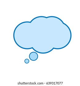 speech bubble icon. Cloud chat. Call out. Chat think symbol. Comic speech chat sign. Flat design. Vector illustration.