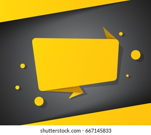 Speech bubble icon. Dialog box info. Abstract infographic.