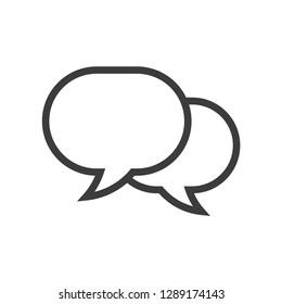 Speech bubble icon, dialog symbol