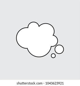 Speech bubble icon, isolated. Flat design.