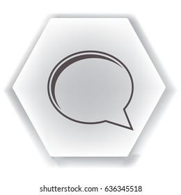 Speech bubble icon, isolated. Flat design.