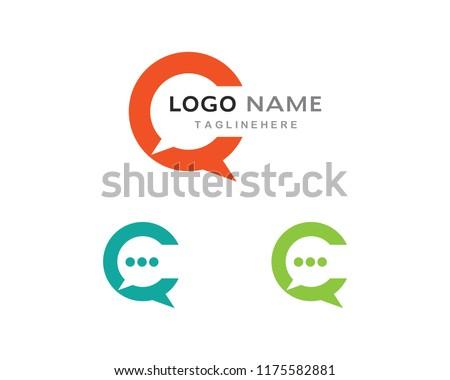 bf77e88fc0d4fa Speech Bubble Icon Logo Template Vector Stock Vector (Royalty Free ...