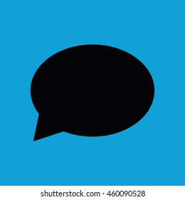Speech bubble icon vector. Blue background