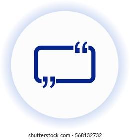 Speech Bubble  icon. Vector design.