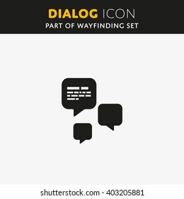 Speech bubble icon. Vector Dialog sign. Illustration symbol.