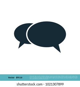 Speech Bubble Icon Vector Logo Template
