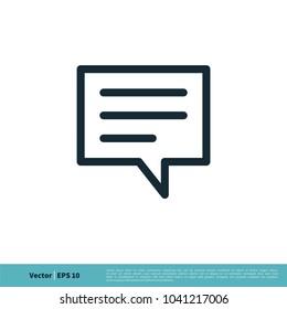 Speech Bubble Icon Vector Logo Template