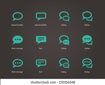 Speech bubble icons. Vector illustration.