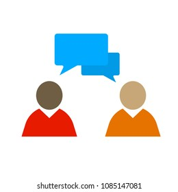 speech bubble illustration, communication icon - conversation symbol, chat icon