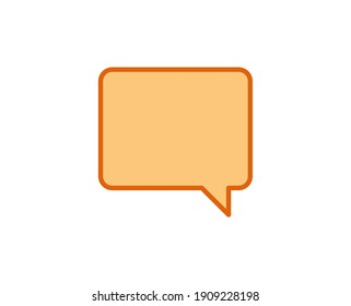 Speech bubble line icon. High quality outline symbol for web design or mobile app. Thin line sign for design logo. Color outline pictogram on white background