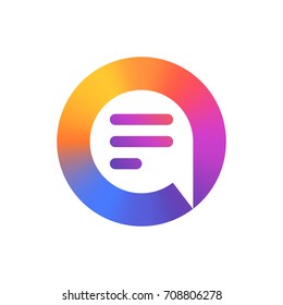 Speech bubble logo. Colorful logo. Vector design template elements for your application or corporate identity.