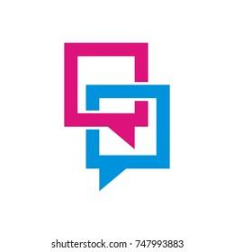 speech bubble logo design template vector