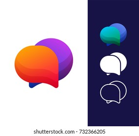 Speech bubble logo template