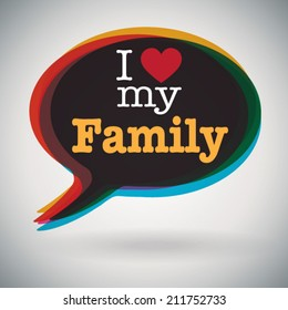 I Love My Family Images Stock Photos Vectors Shutterstock